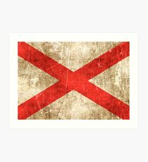 Vintage Aged and Scratched Northern Ireland Flag Art Print