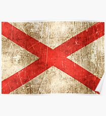 Vintage Aged and Scratched Northern Ireland Flag Poster