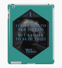 Vinilo o funda para iPad Cita de: Albert Einstein sobre la creatividad - Camisetas, pósters, pegatinas y regalos