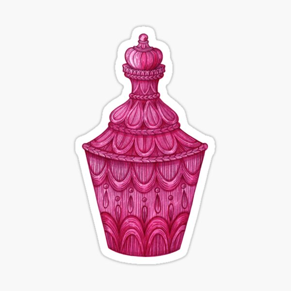 Magenta Bottle Sticker