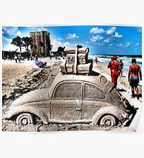 Sunburned with Volkswagen  Bug Poster