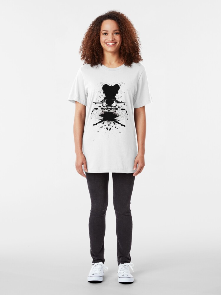 Alternate view of Black Heart. Slim Fit T-Shirt