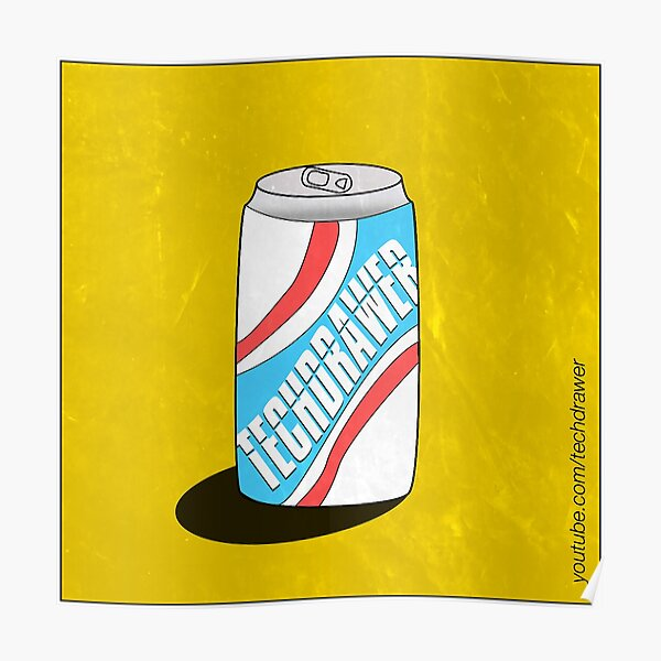 techdrawer cola by Riley Rosa Poster