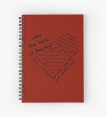 Quotes of the Heart - Stucky (Black) Spiral Notebook