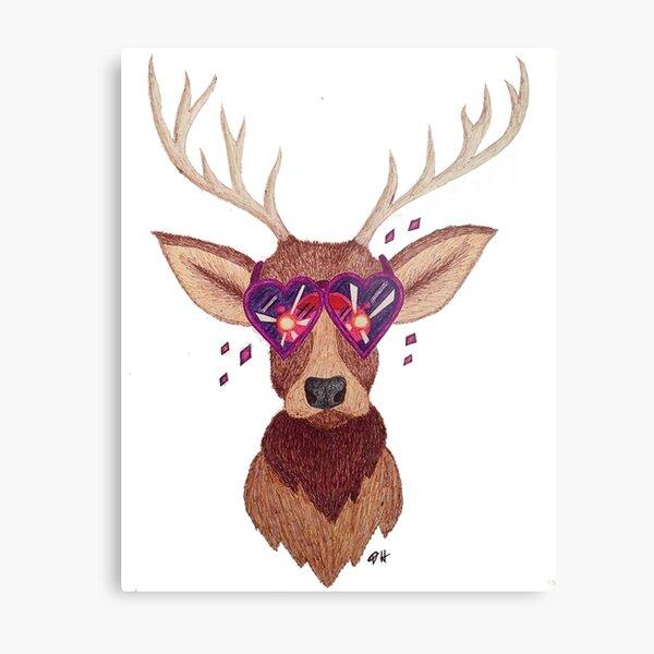 Deer in the Headlights Metal Print
