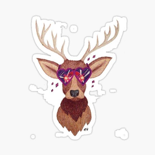 Deer in the Headlights Sticker