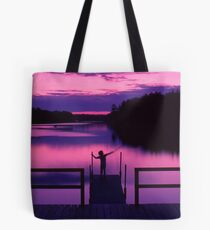 Boy with stick Tote Bag