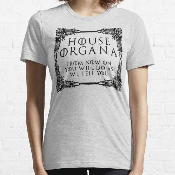 House Organa (black text) Essential T-Shirt