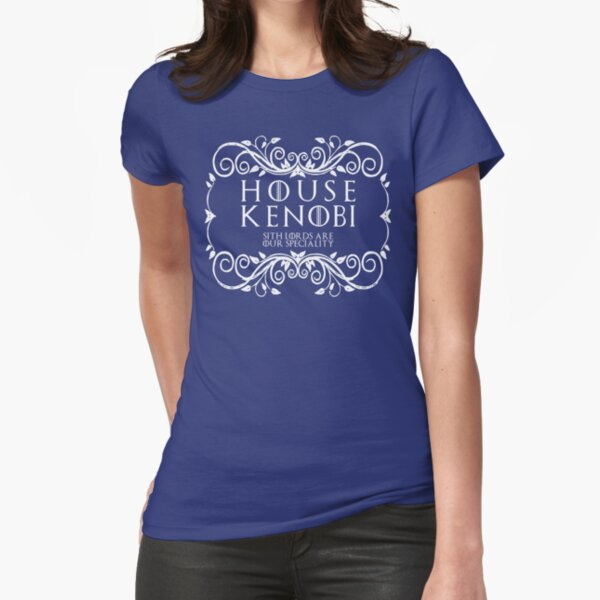 House Kenobi (white text) Fitted T-Shirt
