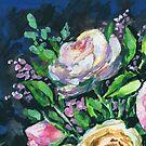 Floral Impressionism Pink Rose by Irina Sztukowski