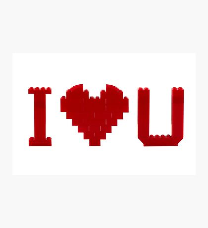 I love U Photographic Print