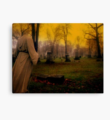 A cemetery in Michigan Canvas Print
