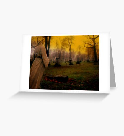 A cemetery in Michigan Greeting Card