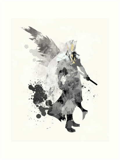 Final Fantasy 7 - Sephiroth Art Print by paperheroes