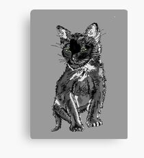 Saphira the cat Pixel sketch Canvas Print