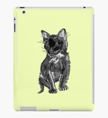 Saphira the cat Pixel sketch iPad Case/Skin