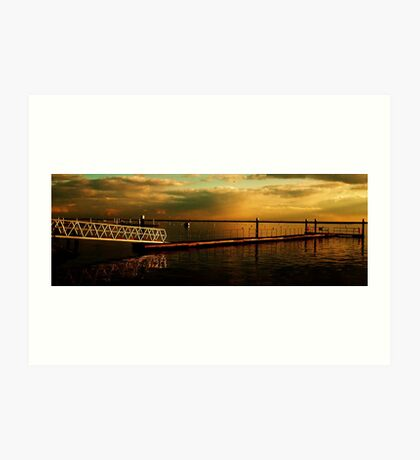 Dark Sunset Clouds over The River Crouch Art Print