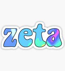Holographic Zeta Sticker