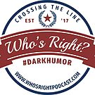 Who's Right Podcast circle logo by whosright