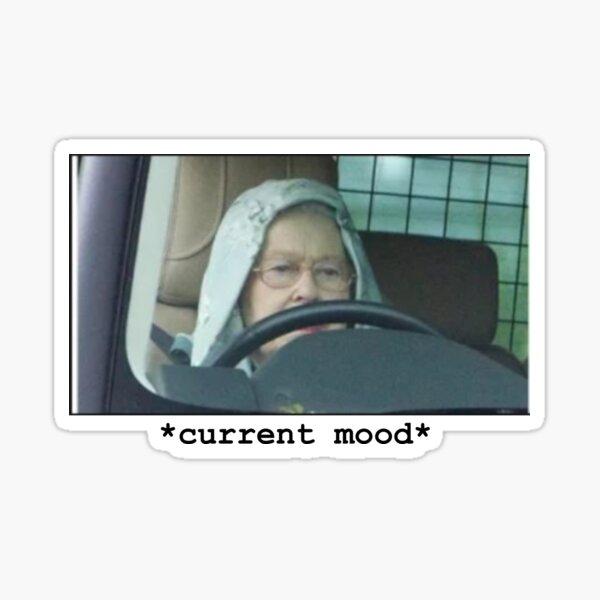 Queen Elizabeth Driving Meme Sticker