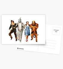 Scarecrow, Tin Man, Dorothy, and the Cowardly Lion Postcards