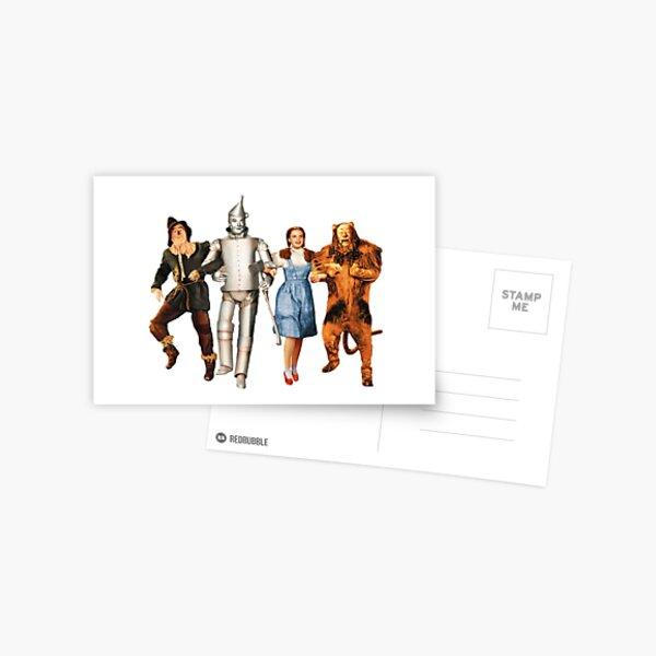 Scarecrow, Tin Man, Dorothy, and the Cowardly Lion Postcard