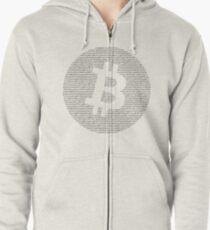 Sudadera con capucha y cremallera Bitcoin
