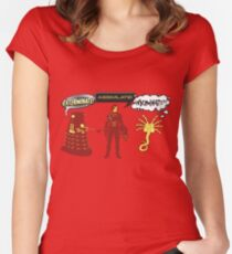Exterminate, Assimilate, Inseminate! Women's Fitted Scoop T-Shirt