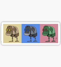 Three Little Robots Sticker