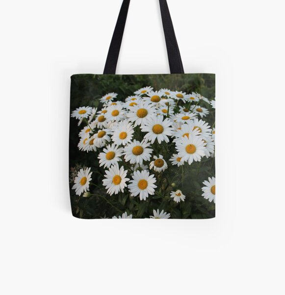 Daisies All Over Print Tote Bag