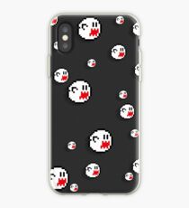 8bit Boo iPhone Case - Flat Grey iPhone Case