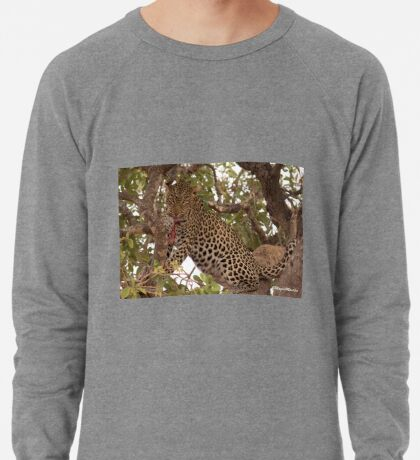 WANT TO JOIN IN BREAKFAST - THE LEOPARD - Panthera pardus – Luiperd Lightweight Sweatshirt