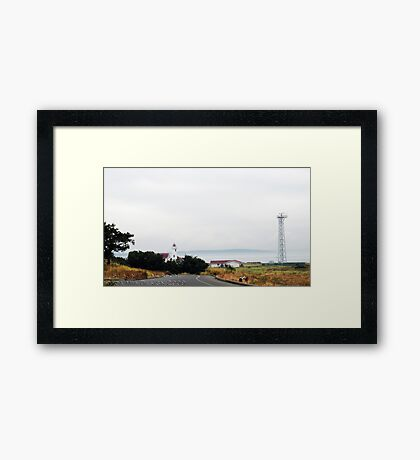 Lighthouse at Fort Worden Framed Print
