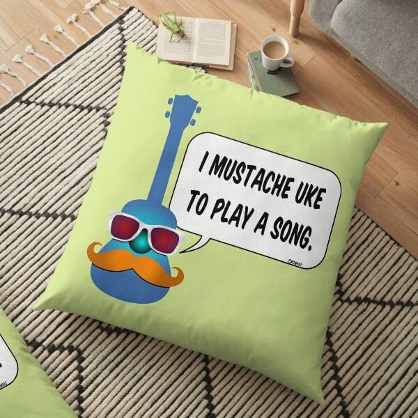Mustache Uke Floor Pillow