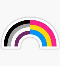 Panromantic Asexual Rainbow Sticker