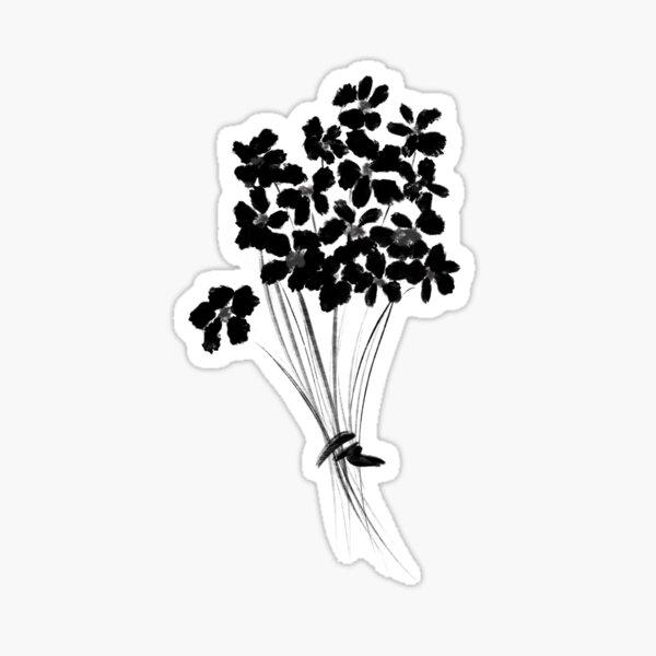Bouquet of flowers, ink Sticker