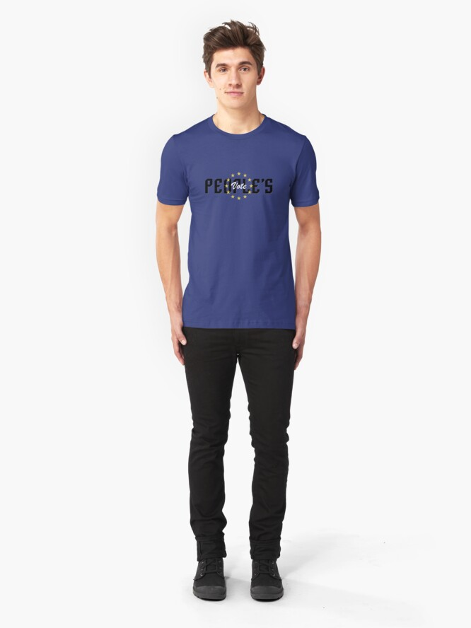 Alternate view of People's Vote Slim Fit T-Shirt