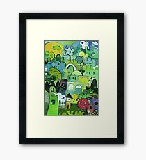 My Way Is Green Framed Print