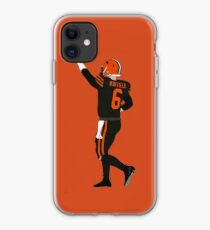 baker mayfields football orange poster back browns iPhone Case