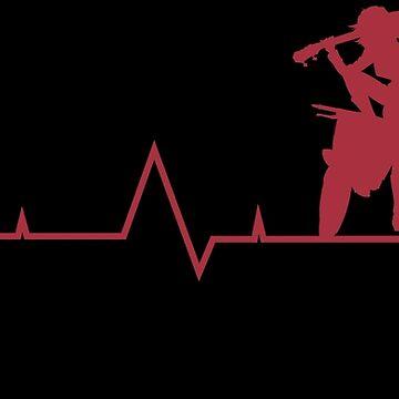 Anime Haruko Heartbeat Monitor Shirt by JaneFlame