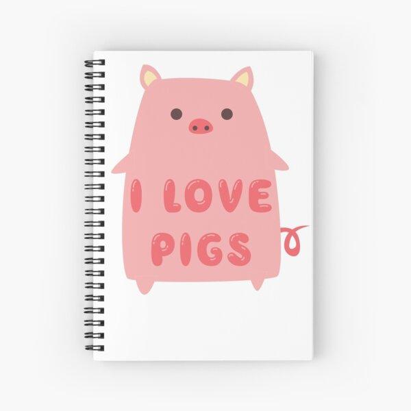 I Love Pigs Cute T Shirt Spiral Notebook