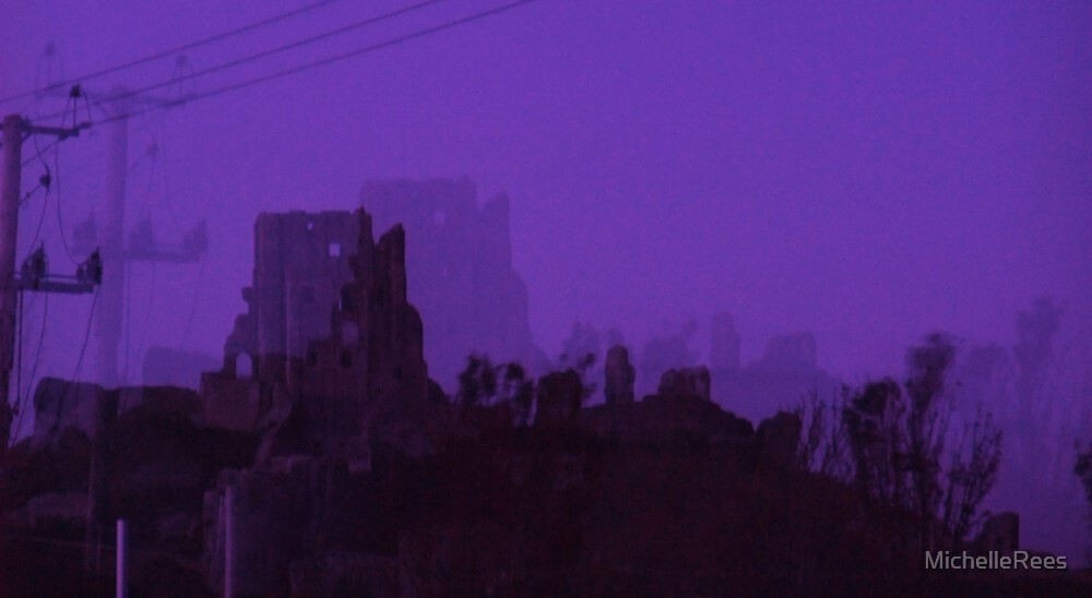 Corfe Castle at Halloween by MichelleRees