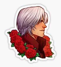 Dante | Red Rose | DMC5 [reverse sticker] Sticker