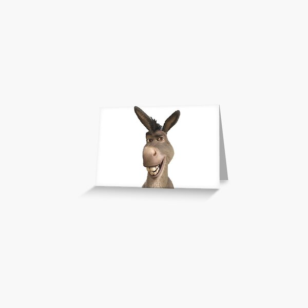 Donkey Head Greeting Card