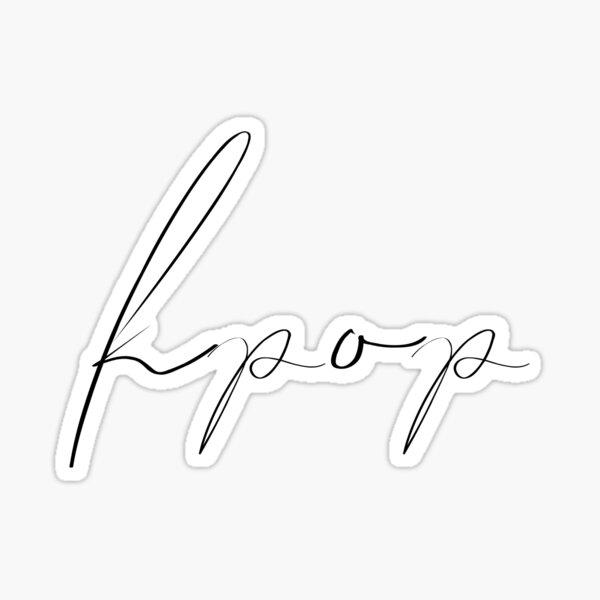 Kpop Signature Sticker
