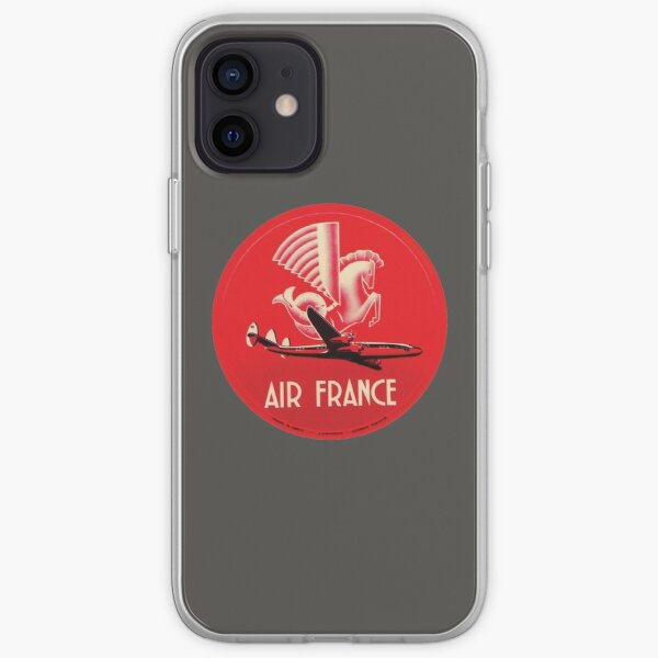 Air France Vintage Airline 00402 Coque souple iPhone