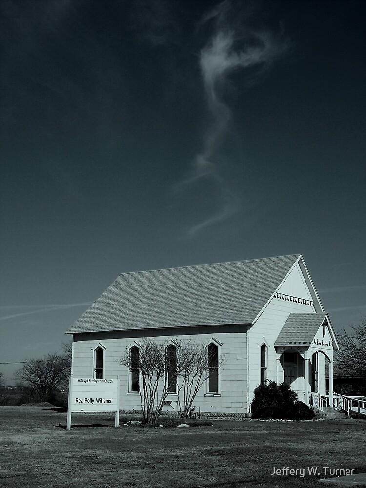 Sky Dancer Over Church by Jeffery W. Turner