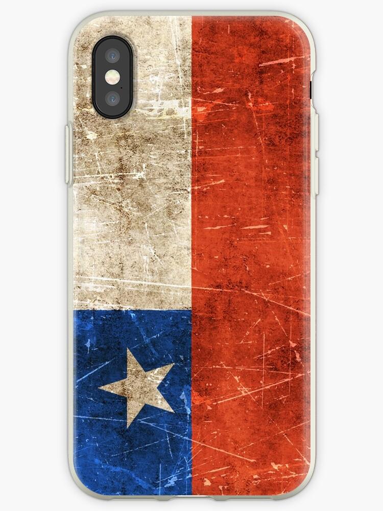3453913e5b0 Vinilos y fundas para iPhone «Bandera chilena vintage envejecida y ...