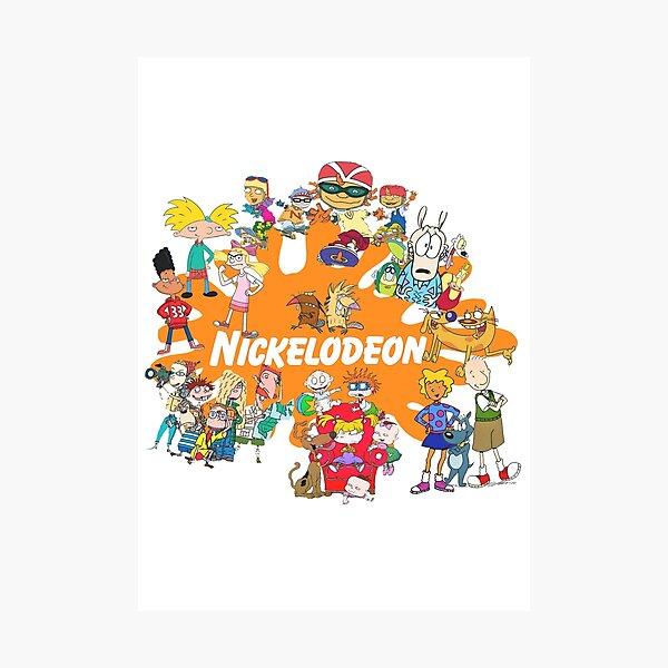 Dibujos animados de Nick de los 90 Lámina fotográfica
