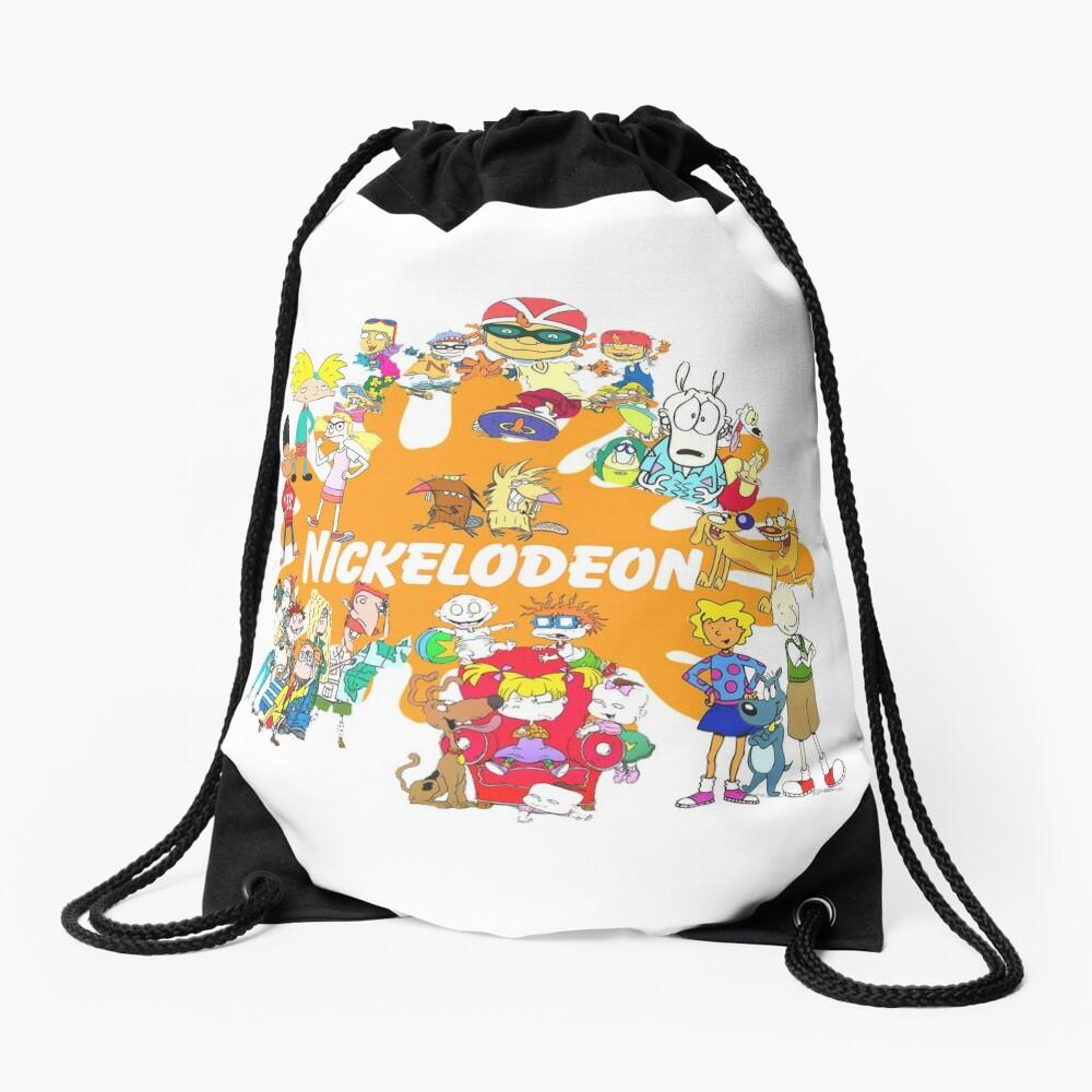90's Nick Cartoons Drawstring Bag